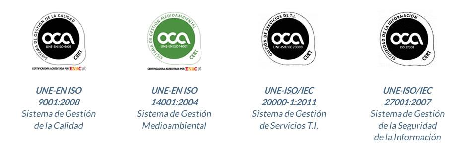 Certificaciones de calidad de Solutia Innovaworld Technologies, S.L.
