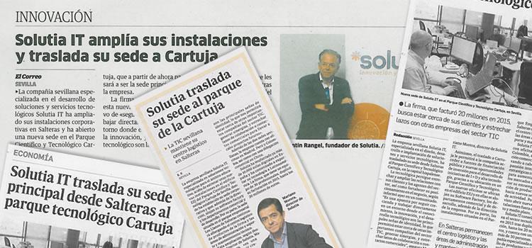 Las nuevas oficinas de Solutia en los medios