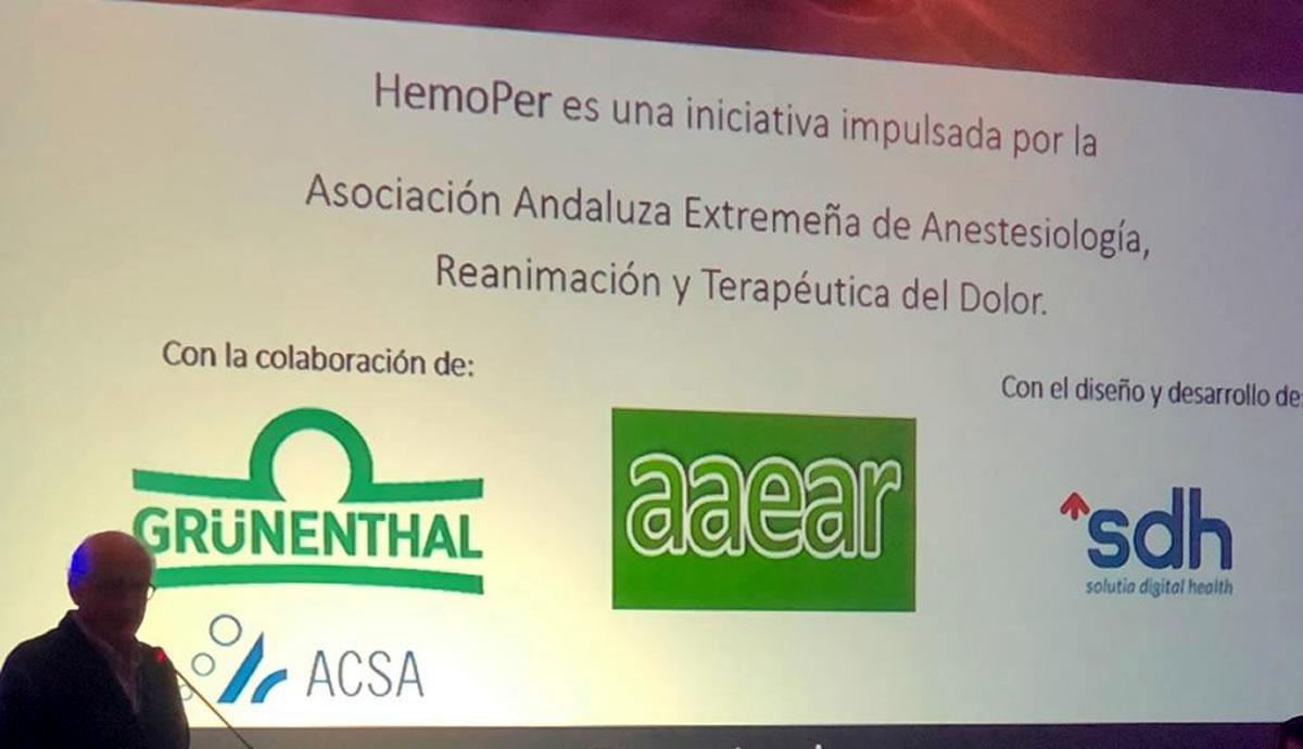 HemoPer, desarrollada por SDH, fue presentada en la 64ª Reunión Anual de la AAEAR, celebrada en Granada